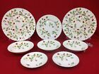 James Kent Old Foley Strawberry Green Trim 8-Piece Mixed Lot Dinner Plates Bowls