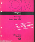 JOHN DEERE  OPERATORS MANUAL ROTARY SNOW PLOW 275 OM-GA10558 ISSUE F5