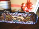 "EXQUISITE ARDMORE CERAMIC POTTERY ZEBRA TRAY, 3-D, South Africa ~15.5""Lx5W $4995"