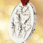 LALIQUE #10413200 CRYSTAL CHRISTMAS ORNAMENT 2014 HOLLY CLEAR BRAND NEW L@@K!!