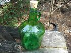 COLLECTIBLE VINTAGE 1 GALLON MOONSHINE JUG!!! LOVELY DARK EMERALD GREEN GLASS !!