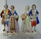 2 HAND PAINTED VTG PORCELAIN FIGURINES JAPAN VICTORIAN COURTING LADY GENTLEMAN
