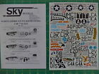 Unique  1:48 Scale decals P-51 B/D Mustangs North Amer. - Sky Models No. 48-023