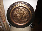 Made in India! Copper Brass Metalware Decorative Charger Plate!