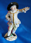 Antique statue statuette figurine porcelain china Man duke lord France Italy cap