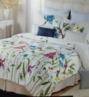 Cynthia Rowley Floral Full / Queen Comforter 6PC Set White Pink Yellow Blue