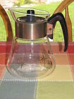 Vintage Corning Pyrex Glass COFFEE Pot Kettle 4 Cup Gold Starburst Atomic