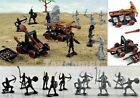 14 pcs Knights Catapult Crossbow Medieval Toy Soldiers Figures Free Ship w/Track