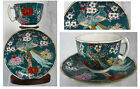 STUNNING VINTAGE GOLD IMARI CUP AND  SAUCER Peacock HAND PAINTED JAPAN  RARE