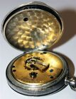 Antique c.1885 Waltham Broadway Key Wind Pocket Watch Model 1877 Coin 900 SILVER