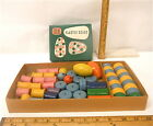 1950's Vintage Wood Beads Wooden String Toy ideal Milton Bradley Play School.