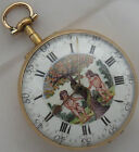 Verge Fusse Old Pocket watch 18K Solid Gold Case 41 mm. in diameter