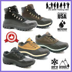 Winter Snow Boots Mens Work Boots Waterproof Leather Upper Rubber Sole 2017