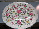 James Kent Chinese Rose Old Foley Made In England Cake Plate floral with birds