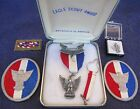 Vintage Sterling BSA Eagle Scout Award Medal Collection Boxed W/ Arrow Button