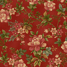 100% Cotton, Pheasant Run 8029-88 Red Floral, Henry Glass, By the Yard