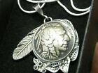 Necklace Pendant authentic 1937 Buffalo Indian Nickel coin nice gift for her