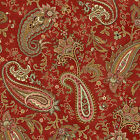 100% Cotton, Pheasant Run 8026-88 Red Paisley, Henry Glass, By the Yard