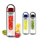 700ML Blue Fruit Infuser Water Bottle Health Sports Lemon Juice Make Bottle