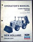 New Holland Model LB-620 Backhoe Loader Operators Manual