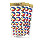 Flag of Philippines Removable Matte Sticker Sheets Set
