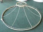 Vintage Victorian Large Cloth Lamp Shade Wire Frame - 24 1/2