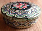 Vintage Floral Mosaic Biscuit Cookie Tin Made in Holland