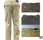 Mens Soft Corduroy Side Pocket Trousers Vintage Style Black Brown Beige 30 to 42