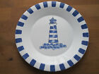 Lighthouse Rock Wall Plate Blue White 8.5