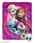 Disney Frozen Elsa, Anna & Olaf Silk Touch Throw Blanket Super Soft! 40