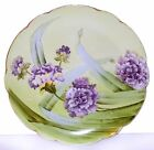 Antique Vienna China Porcelain Serving Plate Charger Hand Painted Purple Flowers