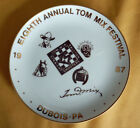 Tom Mix Festival plate, DuBois (PA) 1987