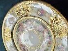 Signed Large French Limoges Porcelain Cabinet Plate Sevres Gold Encrusted c.1900