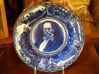 Blue and white Edwardian staffordshire Dickens plate 10 1/8
