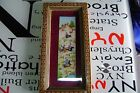 Antique Hand painted  Persian horsemen on celluloid with frame