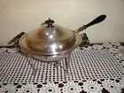 VINTAGE 4 PIECE SILVER PLATED CHAFING DISH MADE IN ENGLAND I. F. S. LTD