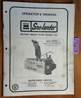 McKee Sno-lander 720 721 722 723 Rotary Snow Plow Owners Operator's Parts Manual