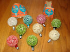 Large Lot of Vintage GE C7 Christmas Lighted Ice Bulbs in Packaging D30 Green