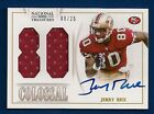 Jerry Rice Panini National Treasure NFL Colossal Signature Jersey AUTO SP #9 25