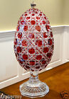 FABERGE RUSSIAN COURT COVERED CANDY DISH EGG 14