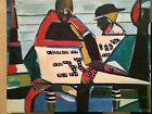 Curtis Barnes African American Artist  Original Art - Double Sided Painting