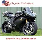 Gloss Matte Black w/ Gold Fairing Kit Injection for 2007-2008 Yamaha Yzf R1