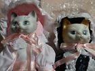 adorable Porcelain Cat Dolls a Girl /a Boy for CAT LOVERS by Baxter