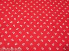 Daisy Kingdom Red Calico Quilting Fabric - Springs - Vtg - 100% Cotton - BTYD