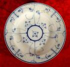 ANTIQUE IMPERIAL RUSSIAN PORCELAIN COBALT PLATE, BOWL  BY KUZNETSOV, TSAR'S TIME