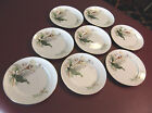 8 Grace China Wood-Lily  Bread & Butter Plates Set MIJ Vintage Ivory Gold Floral