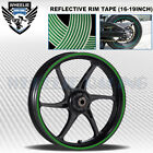 GREEN REFLECTIVE RIM TAPE WHEEL STRIPE MOTO BIKE AUTO DECAL STICKER 16 17 18 19