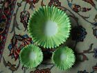Robinson Clay Products Co. Green 'Leaf' Salad Bowl, 2 Small Serving Bowls!