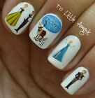 DISNEY FROZEN ELSA ANNA -Nail Art Water Slide Sticker, Decal USA SELLER #99