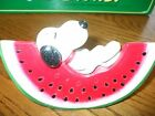 VINTAGE SNOOPY BANK watermelon slice 1968 label still attached